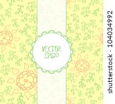 floral background in retro... | Shutterstock .eps vector #104034992