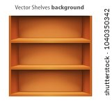 3d vector book shelve template | Shutterstock .eps vector #1040350342