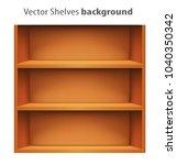 3d vector book shelve template | Shutterstock .eps vector #1040350342