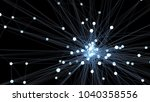 abstract blue futuristic... | Shutterstock . vector #1040358556