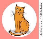 Pensive Cat Vector...