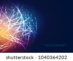 digital technology design with... | Shutterstock .eps vector #1040364202