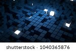 3d rendered abstract background ... | Shutterstock . vector #1040365876