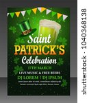 st. patrick's day flyer  saint... | Shutterstock .eps vector #1040368138