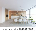 3d rendering of modern kitchen... | Shutterstock . vector #1040372182