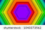 an astonishing 3d illustration... | Shutterstock . vector #1040373562