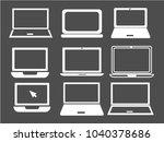 laptop icon in trendy flat... | Shutterstock .eps vector #1040378686