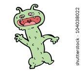 cartoon crazy little monster | Shutterstock .eps vector #104038022