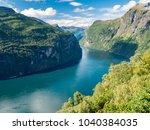 geirangerfjord eagle bend | Shutterstock . vector #1040384035