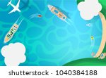 ariel view top down view  of... | Shutterstock .eps vector #1040384188