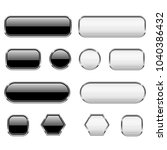 white and black buttons. glass... | Shutterstock .eps vector #1040386432
