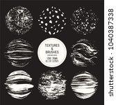 hand drawn textures   brush... | Shutterstock .eps vector #1040387338