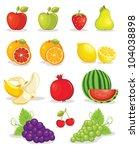 fruits | Shutterstock . vector #104038898