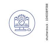 application programming  api ... | Shutterstock .eps vector #1040389588