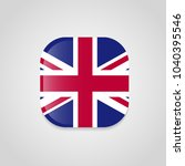 british flag with rounded... | Shutterstock .eps vector #1040395546