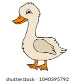 goose character  isolated | Shutterstock .eps vector #1040395792
