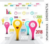 creative timeline infographic... | Shutterstock .eps vector #1040396716