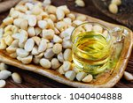 roasted macadamias and... | Shutterstock . vector #1040404888