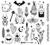 Vector Witch Magic Design...