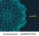 abstract science or technology... | Shutterstock .eps vector #1040407456