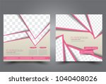 square flyer design. a cover... | Shutterstock .eps vector #1040408026