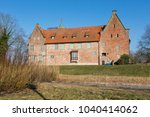 bederkesa castle at the town of ... | Shutterstock . vector #1040414062