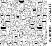 pattern with line hand drawn... | Shutterstock .eps vector #1040421868