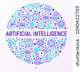 artificial intelligence concept ... | Shutterstock .eps vector #1040422705