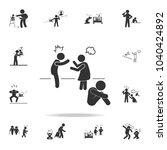parents quarrel with a child... | Shutterstock .eps vector #1040424892