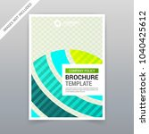 set of visual identity with... | Shutterstock .eps vector #1040425612
