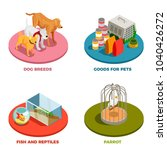 pet shop 2x2 design concept... | Shutterstock .eps vector #1040426272