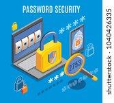 password security  background... | Shutterstock .eps vector #1040426335
