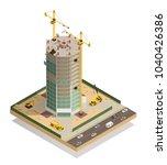 skyscraper construction... | Shutterstock .eps vector #1040426386