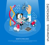 nano technologies isometric... | Shutterstock .eps vector #1040426392