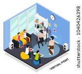 virtual fight isometric... | Shutterstock .eps vector #1040426398