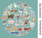 vector collection color cartoon ... | Shutterstock .eps vector #1040426782