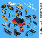 car electronics and service...   Shutterstock .eps vector #1040427448