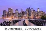 Lower Manhattan At Night In Ne...