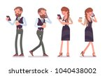 handsome male and pretty female ... | Shutterstock .eps vector #1040438002