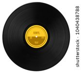 gramophone vinyl lp record with ... | Shutterstock . vector #1040438788