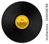 gramophone vinyl lp record with ... | Shutterstock . vector #1040438788