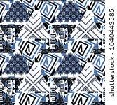 seamless abstract geometric... | Shutterstock . vector #1040443585