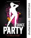 vector illustration black party ... | Shutterstock .eps vector #1040445166