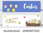 easter cards vector cartoon... | Shutterstock .eps vector #1040447332