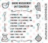 baking units conversion chart   ... | Shutterstock .eps vector #1040448628