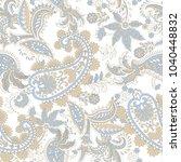 paisley ethnic seamless pattern ... | Shutterstock .eps vector #1040448832