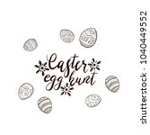 black easter lettering with... | Shutterstock . vector #1040449552