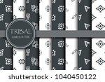 tribal geometry seamless ethnic ... | Shutterstock .eps vector #1040450122