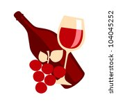 gourmet lifestyle   red wine... | Shutterstock .eps vector #104045252