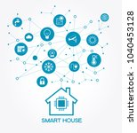 smart home control concept.... | Shutterstock .eps vector #1040453128